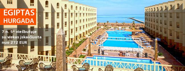 """Šilumą ir pramogas poilsiui siūlo EGIPTO kurortas! Savaitė Hurgadoje, gerame 5* viešbutyje su """"viskas įskaičiuota"""" - nuo 438 EUR. Kelionės data: 2019 m. sausio 12 d."""