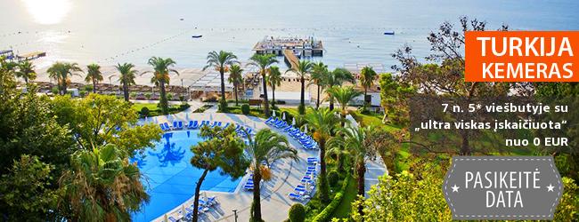"""Norite komforto ir pramogų: turiningai praleiskite atostogas TURKIJOJE, Kemere! Savaitė gerame 5* viešbutyje ant jūros kranto su """"ultra viskas įskaičiuota"""" - nuo 523 EUR! Kelionės data: 2017 m. gegužės 11 d. ir kitos datos"""