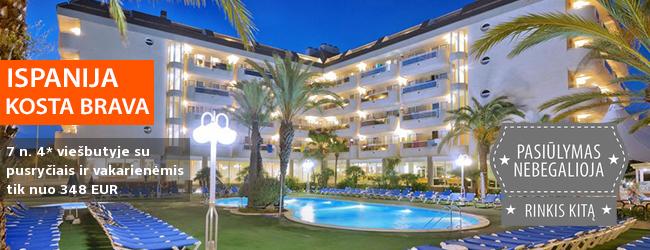 Praleiskite atostogas ant jūros kranto ISPANIJOJE, Kosta Bravoje! Savaitės poilsis gerame 3* viešbutyje - tik nuo 331 EUR! Kelionės data: 2018 m. rugsėjo 29 d.