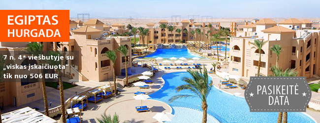 """Malonia šiluma mėgaukitės kiaurus metus! Savaitės poilsis EGIPTE, labai gerame 4* viešbutyje su """"viskas įskaičiuota"""" - tik nuo 419 EUR! Kelionės data: 2019 m. sausio 12 d."""