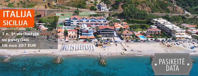 Grožėkitės vaizdinga gamta ir pažinkite saliečių kultūrą SICILIJOJE! Savaitė 3* viešbutyje OASI AZZURRA ant jūros kranto su pusryčiais - tik nuo 272 EUR! Data: 2018 m. birželio 6 d.