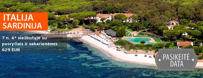 Rafinuotos atostogos romantiškoje Italijos saloje – SARDINIJOJE. Savaitė elegantiškame 4* viešbutyje IS MORUS ant jūros kranto su pusryčiais ir vakarienėmis - 629 EUR! Kelionės data: 2018 m. spalio 10 d.