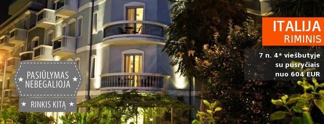 Vasara Riminyje: savaitė tikrų itališkų atostogų labai gerame 4* viešbutyje SOVRANA su pusryčiais – nuo 604 EUR! Kelionės data: 2018 m. liepos 25 d.