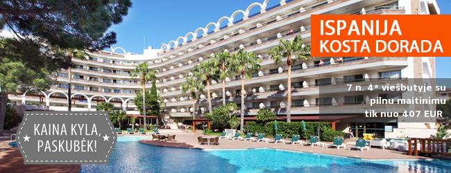 Mėgaukitės kokybiškomis atostogomis ir pramogomis ISPANIJOJE itin gerai vertinamame viešbutyje! Savaitė 4* viešbutyje su SPA is pilnu maitinimu tik nuo 461 EUR! Išvykimas: 2017 m. gegužės 13 d. ir kitos datos