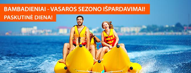 Baigiasi išankstiniai pardavimai! Tik šią savaitę - išskirtiniai pasiūlymai vasaros atostogoms! Šiandien: į Kiprą ir Bulgariją