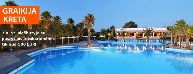 Pasimėgaukite šeimos atostogomis su daug pramogų KRETOJE! Savaitė labai gerame 5* viešbutyje AQUILA RITHYMNA BEACH su pusryčiais ir vakarienėmis - tik nuo 453 EUR! Kelionės data: 2018 m. gegužės 3 d.