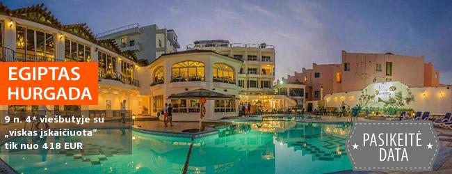 """Per atostogas šildykitės po EGIPTO saule! Net 9 n. Hurgadoje, labai gerai turistų vertinamame 4* viešbutyje su """"viskas įskaičiuota"""" - nuo 449 EUR! Kelionės data: 2018 m. lapkričio 13 d."""