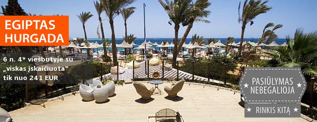 """Šiluma ir pramogos su šeima EGIPTE! Savaitė Hurgadoje, 4* viešbutyje ant jūros kranto su """"viskas įskaičiuota"""" - tik nuo 381  EUR. Data: 2018 m. kovo 7 d."""
