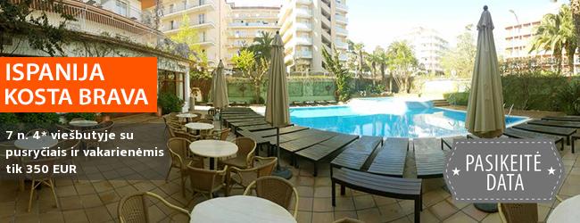 Gegužės atostogos nuostabiuose Kosta Bravos regiono paplūdimiuose, ISPANIJOJE! Savaitės poilsis gerai vertinamame 4* viešbutyje su pusryčiais ir vakarienėmis - tik nuo 318 EUR! Kelionės data: 2017 m. gegužės 18 d.
