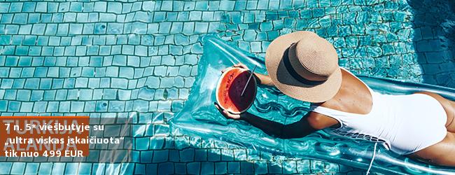 """Bambadienio pasiūlymas! Mėgaukitės atostogomis vaizdingame Alanijos regione TURKIJOJE! Savaitės poilsis turistų pamėgtame 5* viešbutyje su """"ultra viskas įskaičiuota"""" - tik nuo 371 EUR! Kelionės data: 2017 m. gegužės 2 d."""