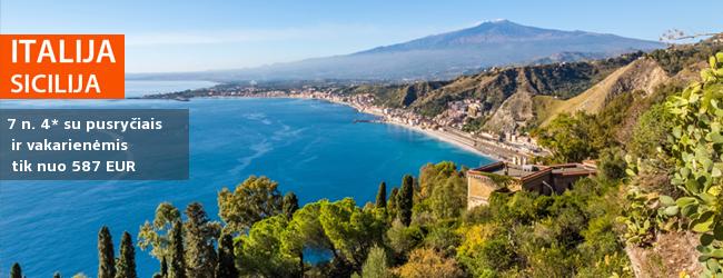 Nuostabi pakrantė Sicilijoje: mėgaukitės šilta salos atmosfera ir kurorto pramogomis! Savaitė populiariame 4* viešbutyje su pusryčiais ir vakarienėmis - nuo 410 EUR! Kelionės data: 2018 m. gegužės 30 d.