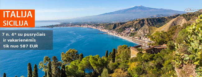 Nuostabi pakrantė Sicilijoje: mėgaukitės šilta salos atmosfera ir kurorto pramogomis! Savaitė populiariame 4* viešbutyje su pusryčiais ir vakarienėmis - nuo 362 EUR! Kelionės data: 2018 m. gegužės 23 d.