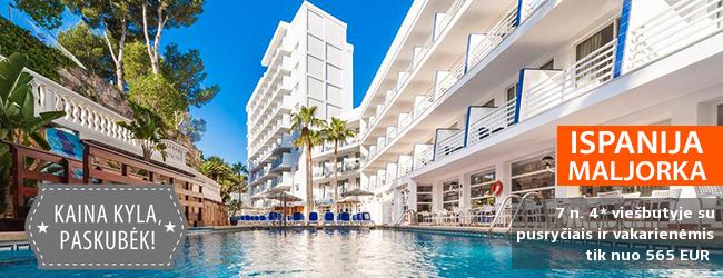 Atostogaukite spalvingoje MALJORKOJE! Savaitė ramioje vietoje įsikurusiame 4* viešbutyje su pusryčiais ir vakarienėmis - tik nuo 510 EUR! Kelionės data: 2018 m. rugsėjo 1 d.