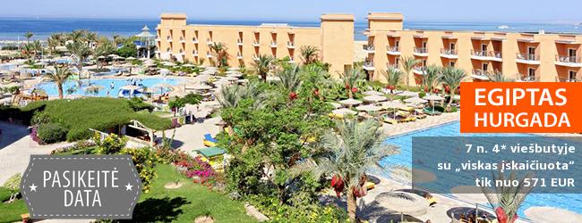 """Mėgaukitės kokybišku poilsiu EGIPTE! Savaitės atostogos labai gerame 4* viešbutyje su """"viskas įskaičiuota"""" - tik nuo 388 EUR! Data: 2018 m. gruodžio 4 d."""