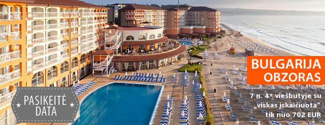 """Įsimintinos atostogos BULGARIJOJE! Savaitės poilsis labai gerai vertinamame 4* viešbutyje ant jūros kranto su """"viskas įskaičiuota"""" -  tik nuo 516 EUR! Data: 2018 m. rugsėjo 2 d."""