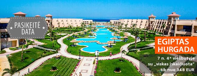 """Ramus poilsis su šeima ant jūros kranto EGIPTE! Savaitės atostogos labai gerai vertinamame 4* viešbutyje su """"viskas įskaičiuota"""" - tik nuo 387 EUR! Išvykimas: 2017 m. lapkričio 9 d."""