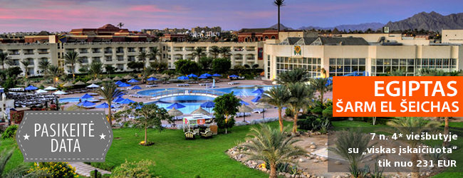 """Karštas poilsis  EGIPTE! Savaitės atostogos labai gerai vertinamame 4* viešbutyje su """"viskas įskaičiuota"""" - tik nuo 324 EUR! Data: 2017 m. gruodžio 5 d."""