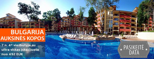 """Išskirtinis pasiūlymas mėgstantiems prabangų poilsį! Praleiskite atostogas Auksinėse kopose BULGARIJOJE! Savaitė daug pramogų siūlančiame 4* viešbutyje GRIFID BOLERO su """"ultra viskas įskaičiuota"""" - nuo 643 EUR! Kelionės data: 2018 m. rugsėjo 14 d."""