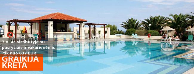 Svajonių atostogos erdvioje jūros pakrantėje žavingoje KRETOS saloje! Savaitės poilsis labai gerame 4* viešbutyje IBEROSTAR CRETA PANORAMA AND MARE su pusryčiais ir vakarienėmis - tik nuo 502 EUR! Kelionės data: 2019 m. gegužės 8 d.