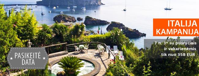 Pasakiškas poilsis ITALIJOS Kampanijos regiono pakrantėje! Savaitė elegantiškame 3* viešbutyje su pusryčiais ir vakarienėmis - tik nuo 468 EUR! Kelionės data: 2017 m. spalio 9 d.