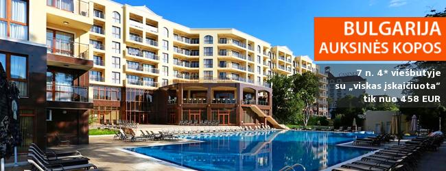 """Puikios šeimos atostogos Bulgarijoje! Savaitė Auksinių Kopų kurortinėje zonoje įsikūrusiame 4* viešbutyje su """"viskas įskaičiuota"""" tik nuo 416 EUR! Kelionės data: 2018 m. rugpjūčio 31 d."""