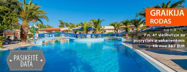Atostogos saulėtoje RODO saloje Graikijoje! Savaitės poilsis jaukiame 4* viešbutyje su pusryčiais ir vakarienėmis - tik nuo 480 EUR! Kelionės data: 2018 m. spalio 13 d.