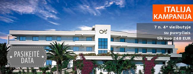 Poilsiaukite žavingame Kampanijos regione ITALIJOJE! Savaitė svetingame 4* viešbutyje su pusryčiais - tik nuo 391 EUR! Kelionės data: 2017 m. rugsėjo 25 d.