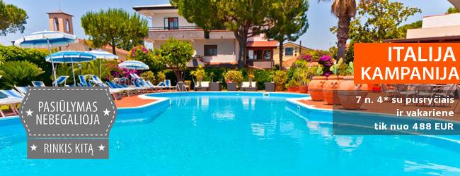 Geras kainos ir kokybės santykis - atostogos žavingame ITALIJOS Kampanijos regione! Savaitė elegantiškame 3* viešbutyje su pusryčiais ir vakariene - tik nuo 461 EUR! Kelionės data: 2017 m. rugsėjo 18 d. Pas mus - su 10% nuolaida!