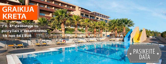 """Elegantiškas poilsis su puikia panorama žavingoje KRETOJE! Savaitė poilsio labai gerai vertinamame 4* viešbutyje su  """"viskas įskaičiuota""""- tik nuo 397 EUR! Kelionės data: 2019 m. gegužės 9 d."""