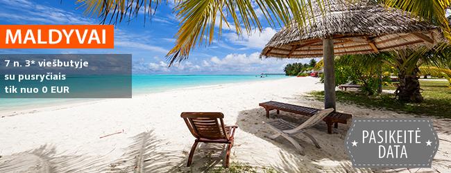 Pasakiškos atostogos prie paplūdimio MALDYVUOSE! Savaitės poilsis  jaukiame 3* viešbutyje su pusryčiais - nuo 1084 EUR! Kelionės data: 2018 m. kovo 16 d.