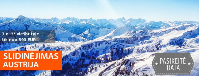 Slidinėjimo kelionė į Austrijos ALPES! Savaitės atostogos ramiame 3* viešbutyje su pusryčiais ir vakarienėmis - tik nuo 449 EUR! Kelionės data: 2018 m. sausio 27 d.