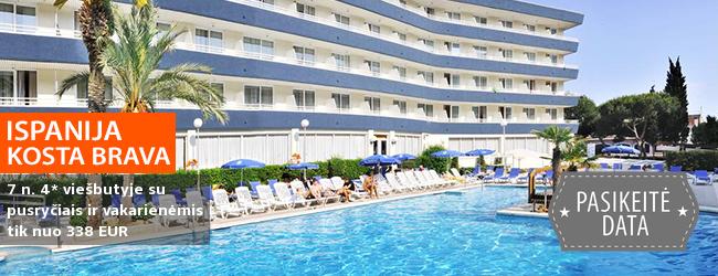 Poilsiaukite Kosta Bravos regione ISPANIJOJE! Savaitės atostogos moderniame 4* viešbutyje, turinčiame SPA, su pusryčiais ir vakarienėmis - tik nuo 342 EUR! Data: 2017 m. spalio 6 d.