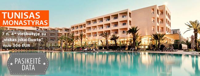 """Puikus pasiūlymas atostogoms TUNISE! Įsimintina savaitė prie jūros, labai gerai vertinamame  4* viešbutyje su """"viskas įskaičiuota"""" -  tik nuo 415 EUR. Kelionės data: 2018 m. gegužės 14 d."""