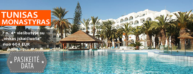 """Atostogaukite TUNISE! Savaitė prie jūros, labai gerai vertinamame ir jaukiame  4* viešbutyje su """"viskas įskaičiuota"""" -  tik nuo 428 EUR. Kelionės data: 2018 m. liepos 27 d."""