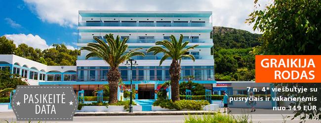 Įsimintinos atostogos: vandens sportas ir kultūra išskirtinio kraštovaizdžio Graikijos saloje – RODE! Savaitė gerame 4* viešbutyje su pusryčiais ir vakarienėmis - tik nuo 406 EUR! Kelionės data: 2018 m. gegužės 26 d.