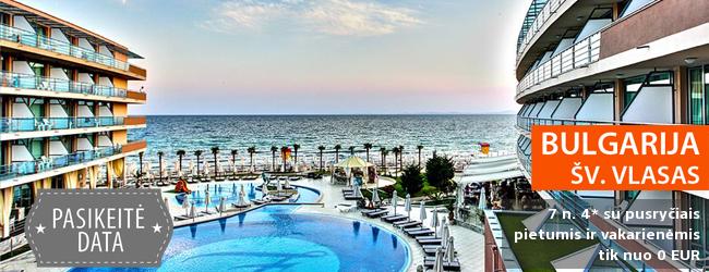 Vasaros sezono atostogos BULGARIJOJE! Praleiskite įsimintiną savaitę 5* viešbutyje su pusryčiais, pietumis ir vakarienėmis - tik nuo 369 EUR! Kelionės data: 2017 m. birželio 28 d.