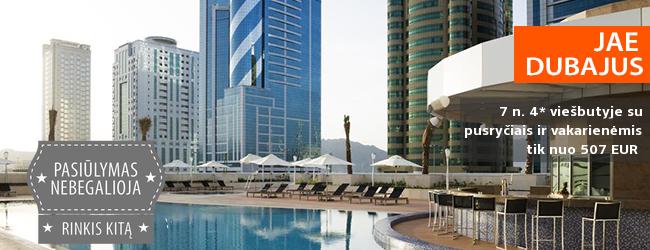 Nepamirštamos atostogos Jungtiniuose Arabų Emyratuose! Savaitė Fudžeiros miesto viduryje įsikūrusiame, šiuolaikiškame 4* viešbutyje su pusryčiais ir vakarienėmis - tik nuo 507 EUR! Kelionės data: 2018 m. sausio 7 d.