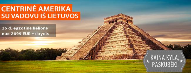 Egzotiška pažintis su CENTRINE AMERIKA! Kelionė į Meksiką, Belizą ir Gvatemalą SU VADOVU IŠ LIETUVOS - nuo 2799 EUR +skrydis! Kelionės data: 2019 m. kovo 11 d.