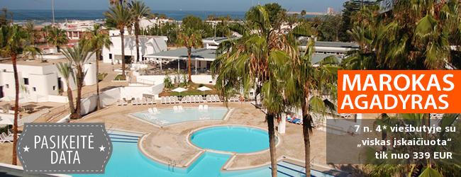 """Egzotiškos atostogos MAROKE, Agadyre! Savaitė kokybiškame 4* viešbutyje su """"viskas įskaičiuota"""" - tik nuo 279 EUR! Kelionės data: 2018 m. gegužės 2 d."""