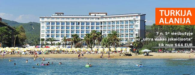 """Prabangus poilsis su šeima Alanijos regione TURKIJOJE! Savaitė labai gerame 5* viešbutyje ANNABELLA DIAMOND su """"viskas įskaičiuota"""" - tik nuo 359 EUR! Data: 2018 m. balandžio 12 d."""