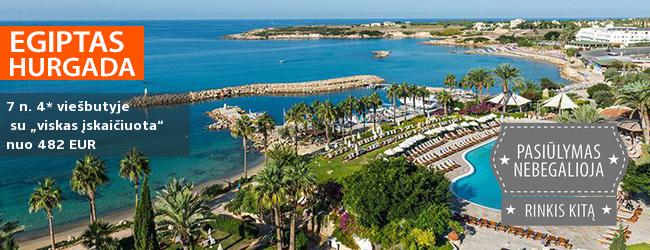"""Atostogoms su šeima rinkitės EGIPTO saulėtą paplūdimį! Savaitė gerame 4* viešbutyje su """"viskas įskaičiuota"""" - tik nuo 369 EUR! Kelionės data: 2018 m. kovo 3 d."""