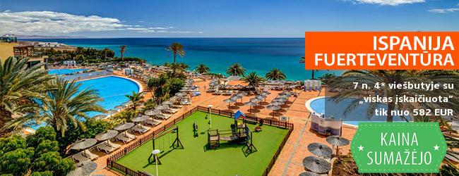 """Įspūdingos atostogos Kanaruose, FUERTEVENTŪROS saloje - savaitė gerame 4* viešbutyje su """"viskas įskaičiuota"""" - tik nuo 402 EUR! Kelionės data: 2018 m. kovo 17 d."""