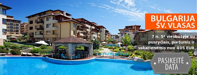 Mėgaukitės vasaros atostogomis ramybės oazėje BULGARIJOJE! Savaitės poilsis šv. Vlaso kurorte, jaukiame 5* viešbutyje su pusryčiais, pietumis ir vakarienėmis - tik nuo 479 EUR! Kelionės data: 2018 m. rugsėjo 14 d.