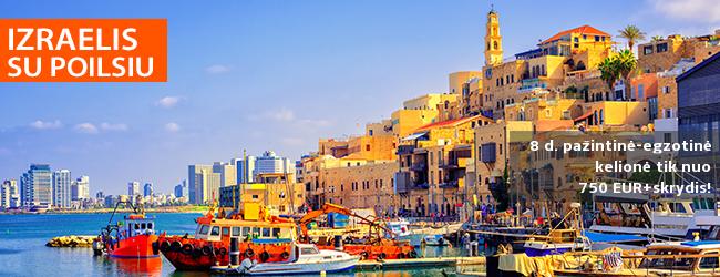 Pažinkite kontrastingąjį Izraelį su poilsiu prie Viduržemio jūros! 8 dienų pažintinė-egzotinė kelionė – nuo 469 EUR + skrydis! Kelionės data: 2019 m. lapkričio 23 d.