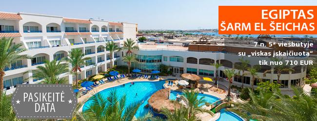 """Aktyvaus poilsio mėgėjams -  puikios atostogos kurorto centre EGIPTE! Savaitė 5* viešbutyje su nuosavu smėlio paplūdimiu TROPITEL NAAMA BAY ir """"viskas įskaičiuota"""" - vos nuo 426 EUR! Data: 2018 m. gruodžio 9 d."""