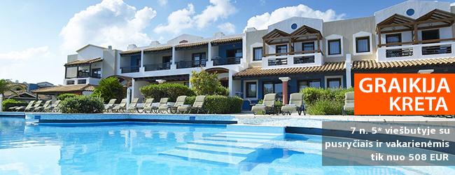 Pasakiškas poilsis Kretos saloje! Savaitė kokybiškame 5* viešbutyje ALDEMAR KNOSSOS ROYAL BEACH RESORT su pusryčiais ir vakarienėmis - vos nuo 517 EUR! Kelionės data: 2018 m. gegužės 31 d.