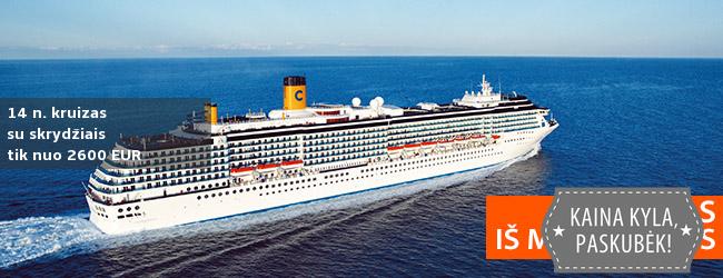 Leiskitės į nuotykį! KRUIZAS įspūdingu maršrutu Mauricijus, Seišeliai, Madagaskaras - 14 naktų stilingame laive COSTA VICTORIA - tik nuo 1800 EUR! Kaina su skrydžiais! Data: 2019 m. kovo 1 d.