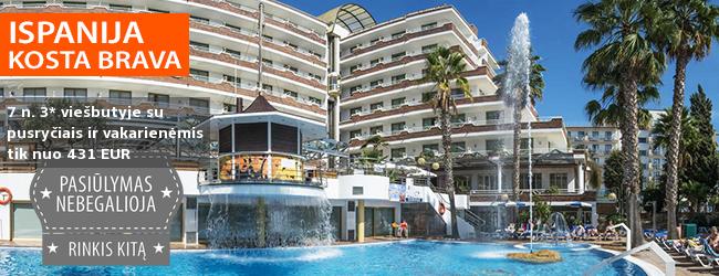 Mėgaukitės saule Santa Susanos kurorte, ISPANIJOJE! Savaitė gerai vertinamame 4* viešbutyje su pusryčiais ir vakarienėmis - tik nuo 497 EUR! Data: 2018 m. rugsėjo 22 d.