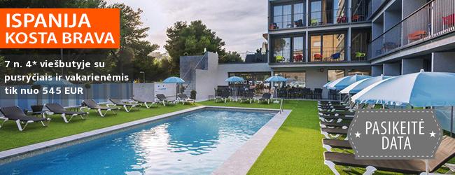 Ramus poilsis Kosta Bravos regione ISPANIJOJE! Savaitės atostogos moderniame 4* viešbutyje su pusryčiais ir vakarienėmis - tik nuo 392 EUR! Data: 2018 m. spalio 2 d.