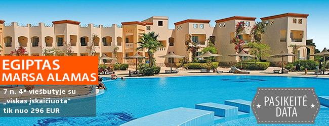 """Šeimos poilsis Marsa Alamo regione, EGIPTE! Savaitė 4* viešbutyje ant jūros kranto su """"viskas įskaičiuota"""" – tik nuo 296 EUR! Kelionės data: 2018 m. gruodžio 1 d."""